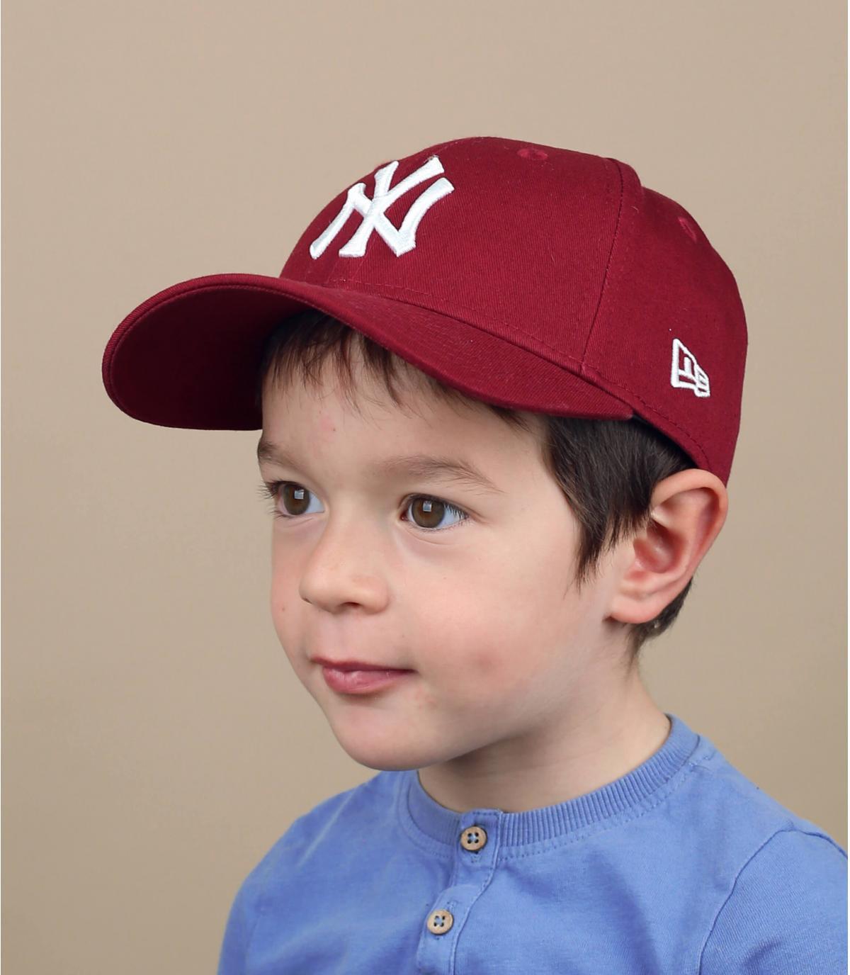 cappellino NY rosso bambino