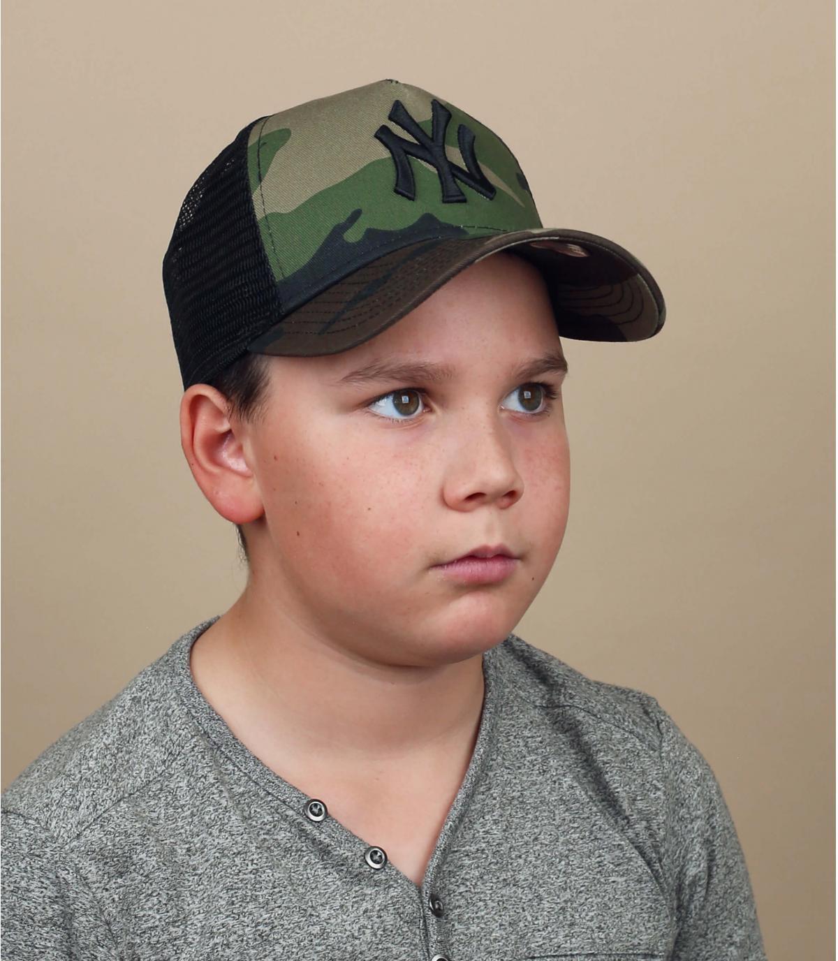 cappellino NY camo bambino