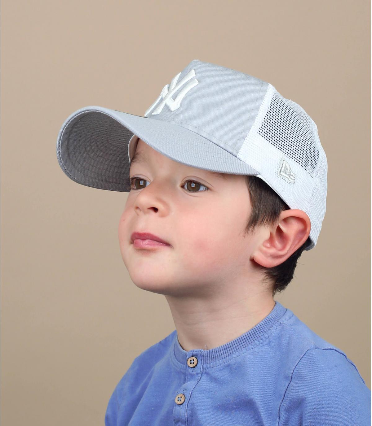trucker bambino NY grigio