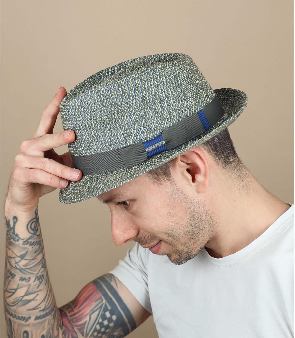 cappello Stetson blu grigio