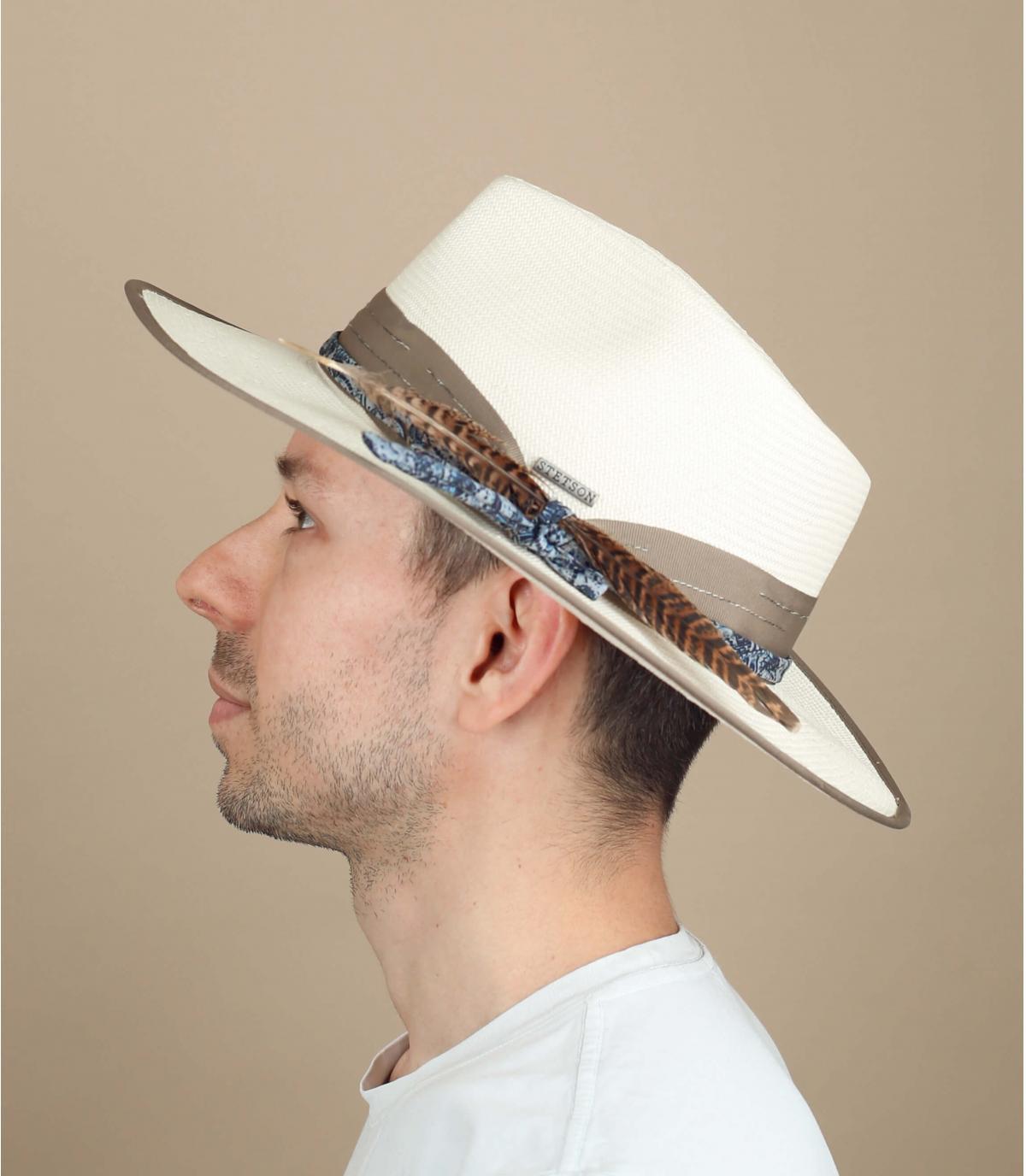 cappello di paglia Stetson bianco