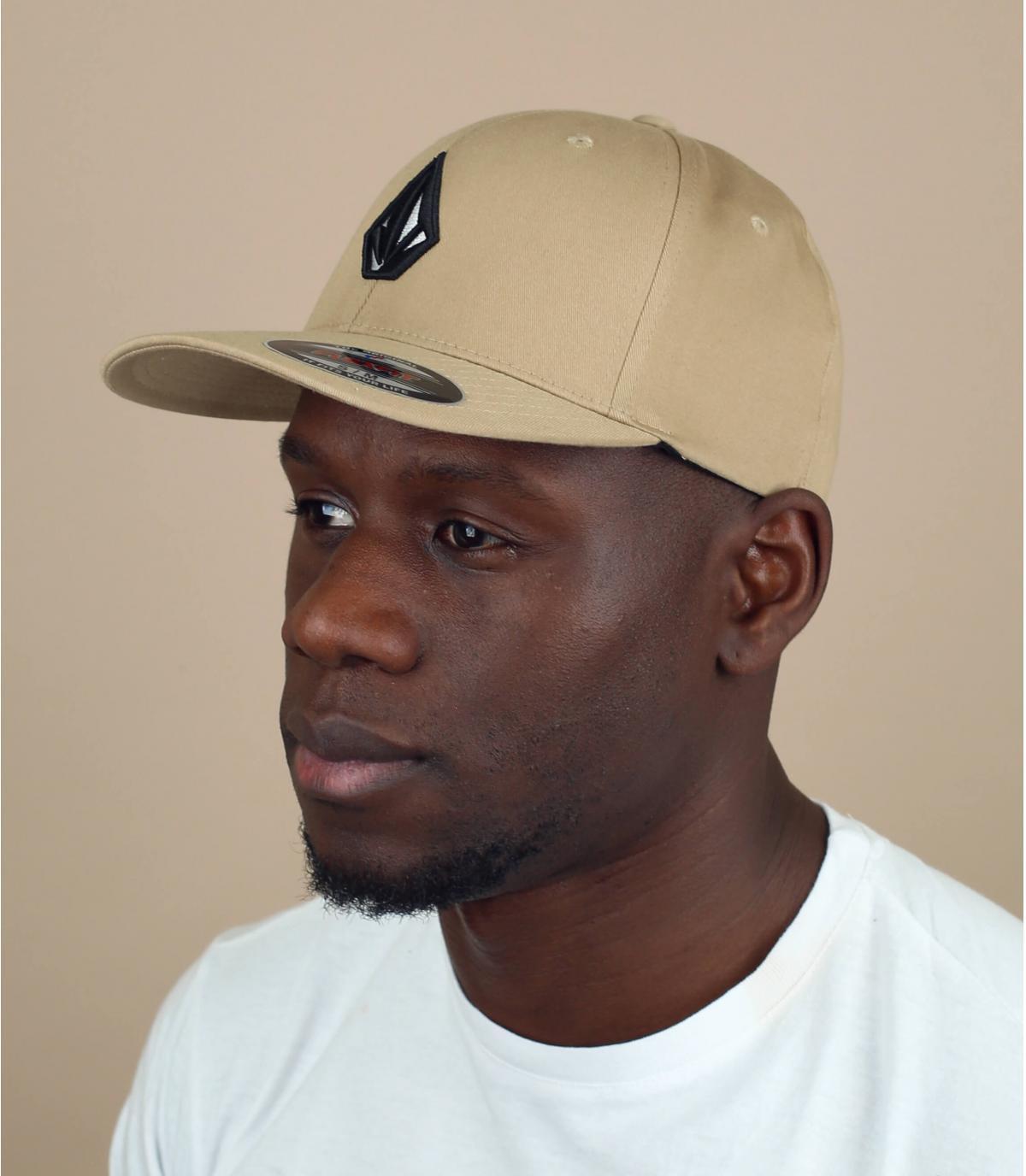 cappellino beige Volcom stone