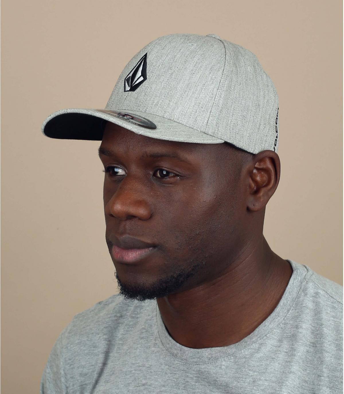 cappellino Volcom grigio chiné