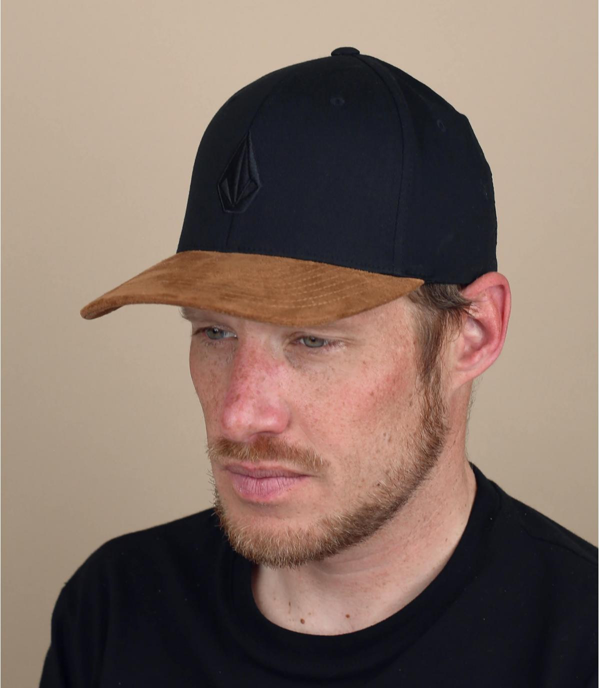 Volcom cappellino nero visiera scamosciata
