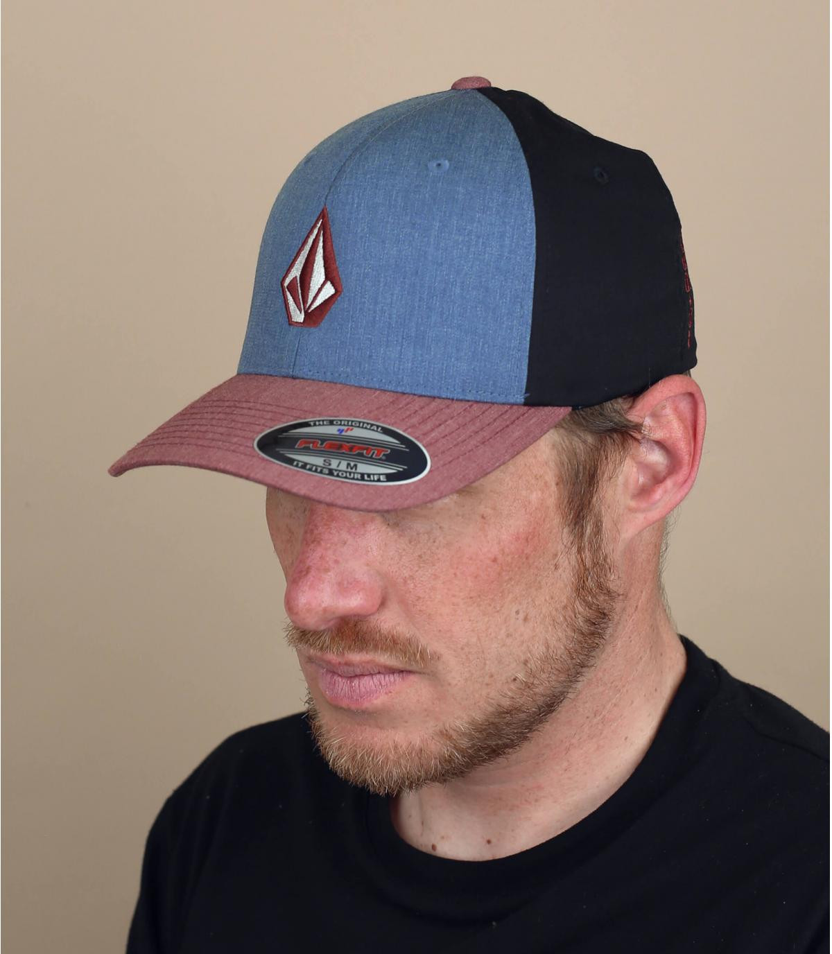 cappellino Volcom blu rosso