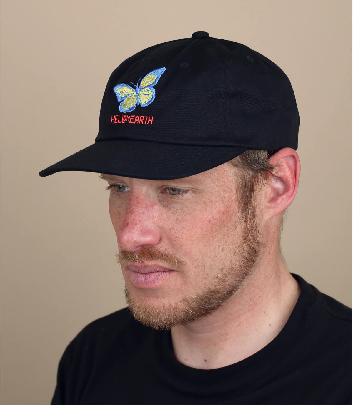 cappellino Obey farfalla nero