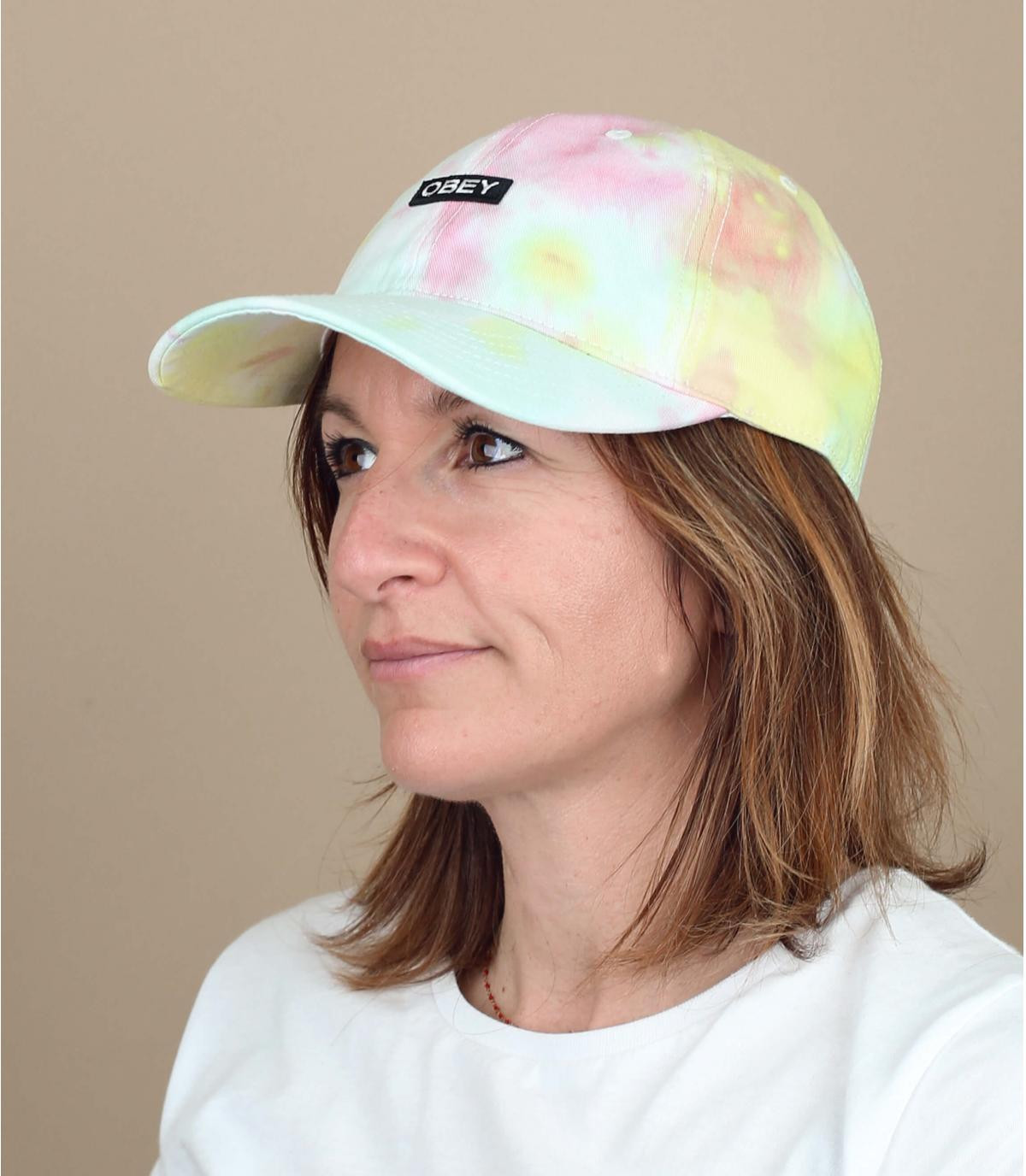 cappellino tie and dye Obey