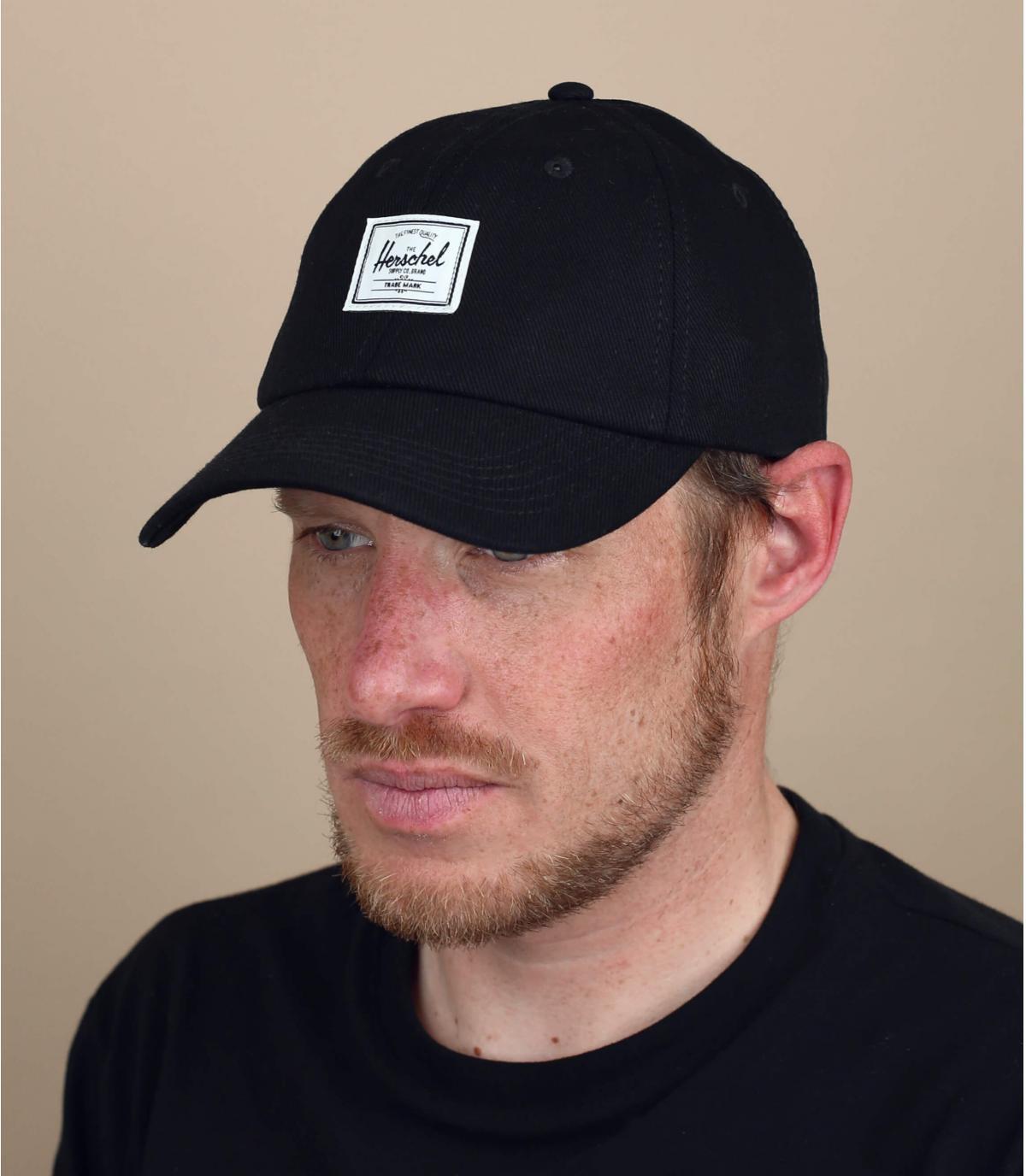 cappellino Herschel denim nero