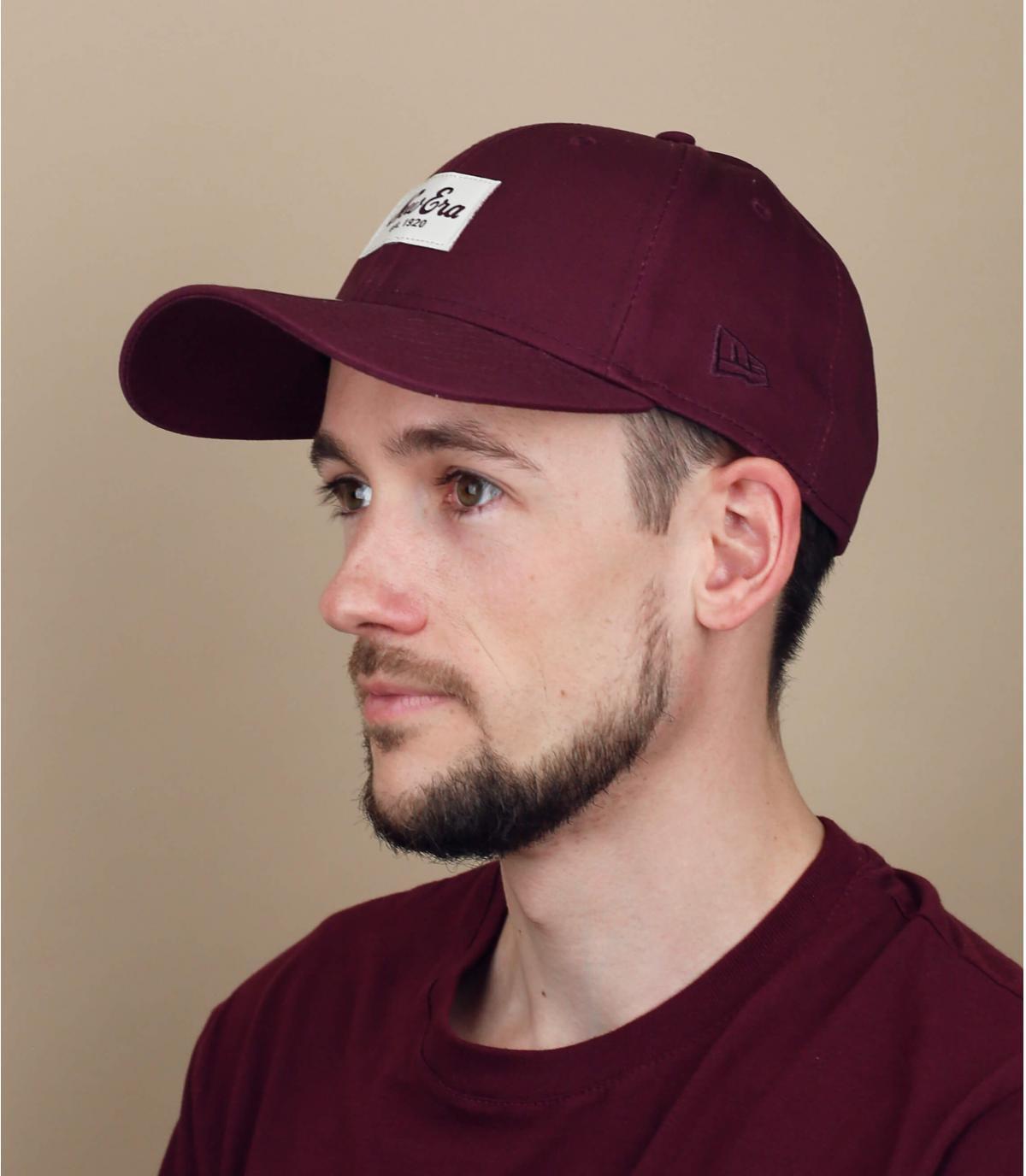 cappellino New Era bordeaux
