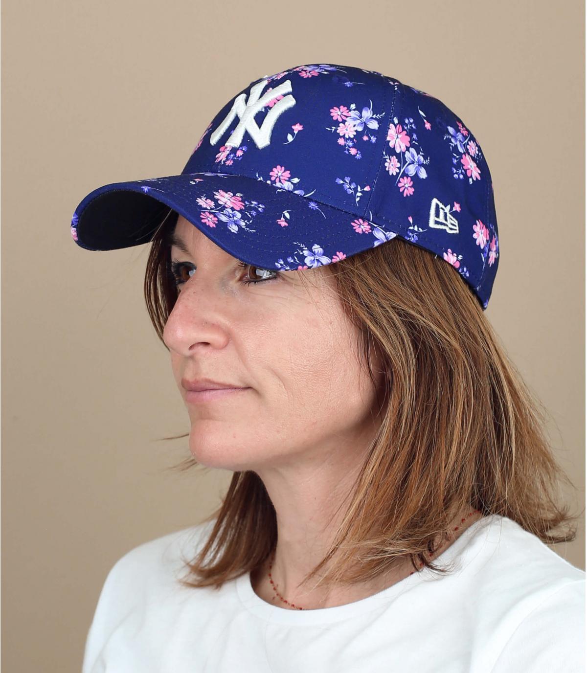 cappellino NY donna a fiori