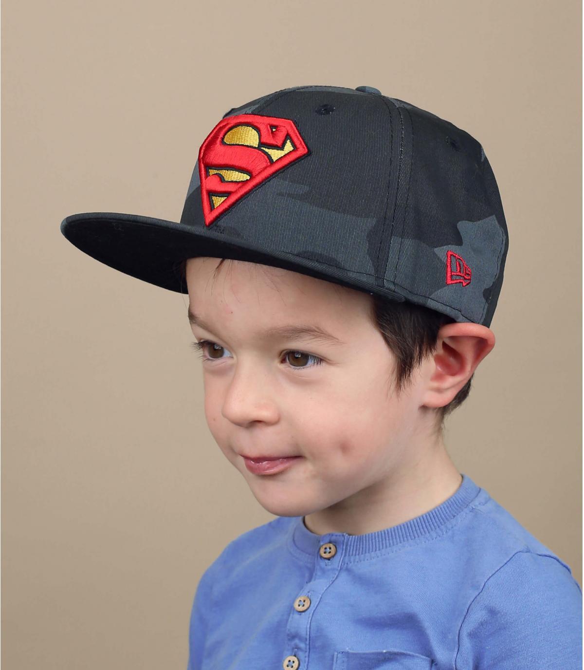 cappellino bambino Superman mimetico