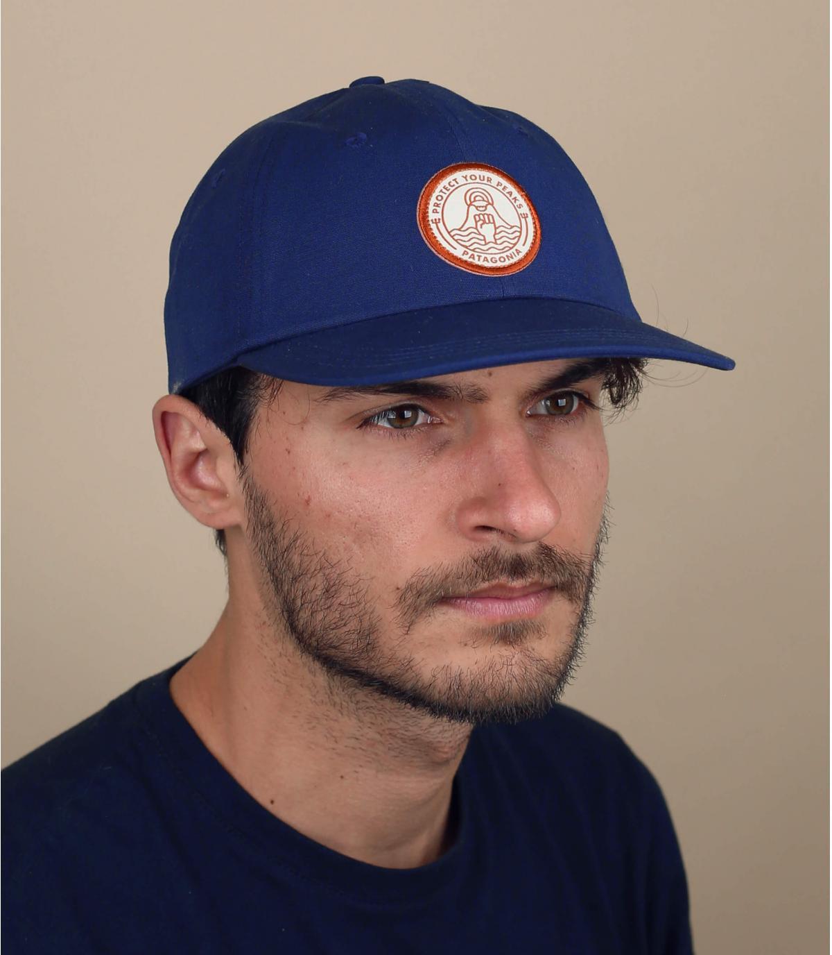 cappellino Patagonia onda blu