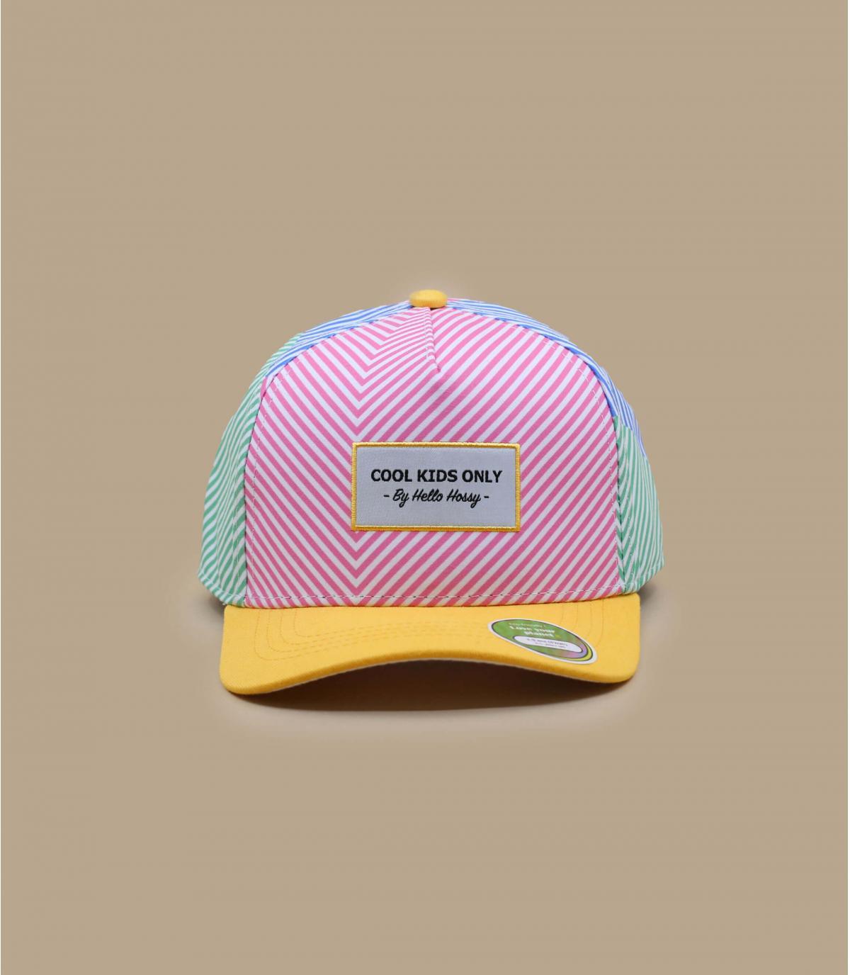 cappellino bambino cotone bio a righe