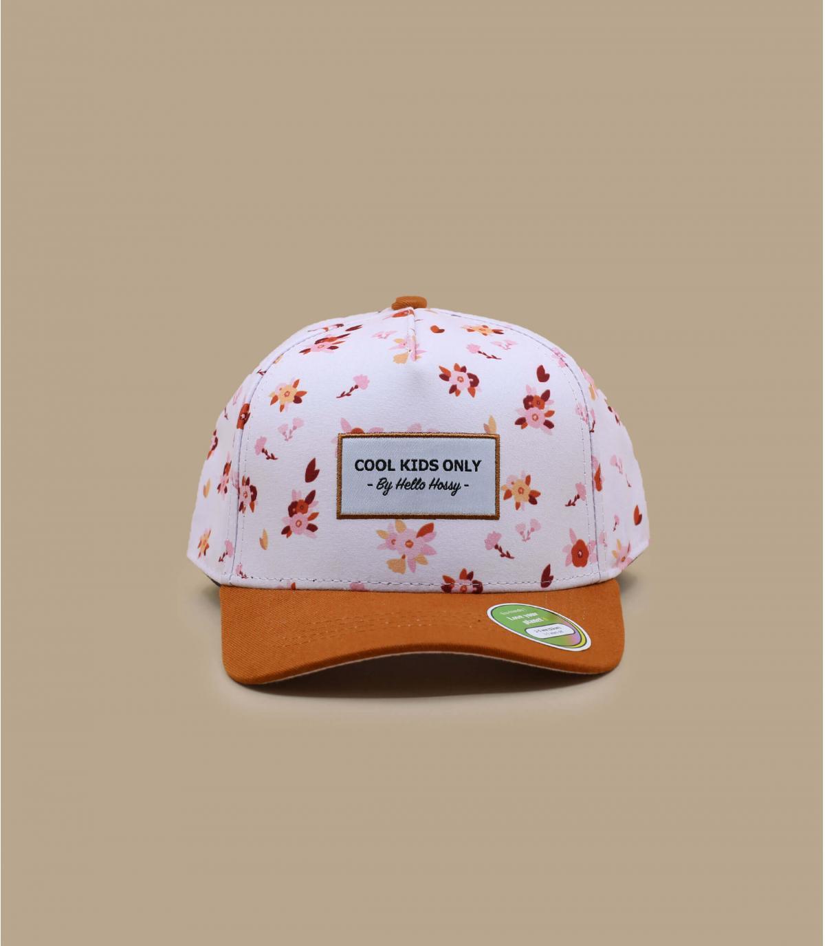cappellino bambino a fiori