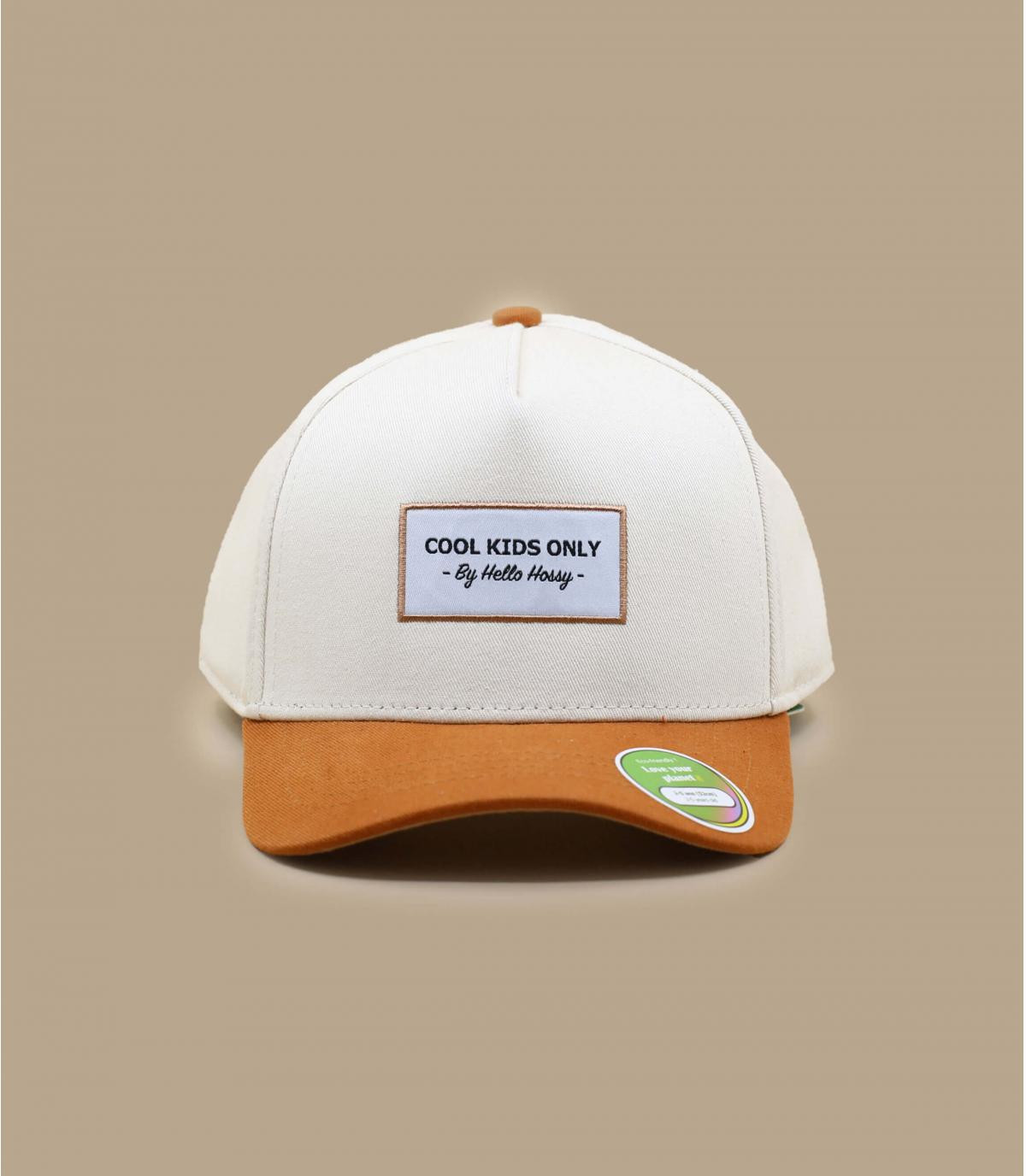 cappellino visiera curva bambino beige
