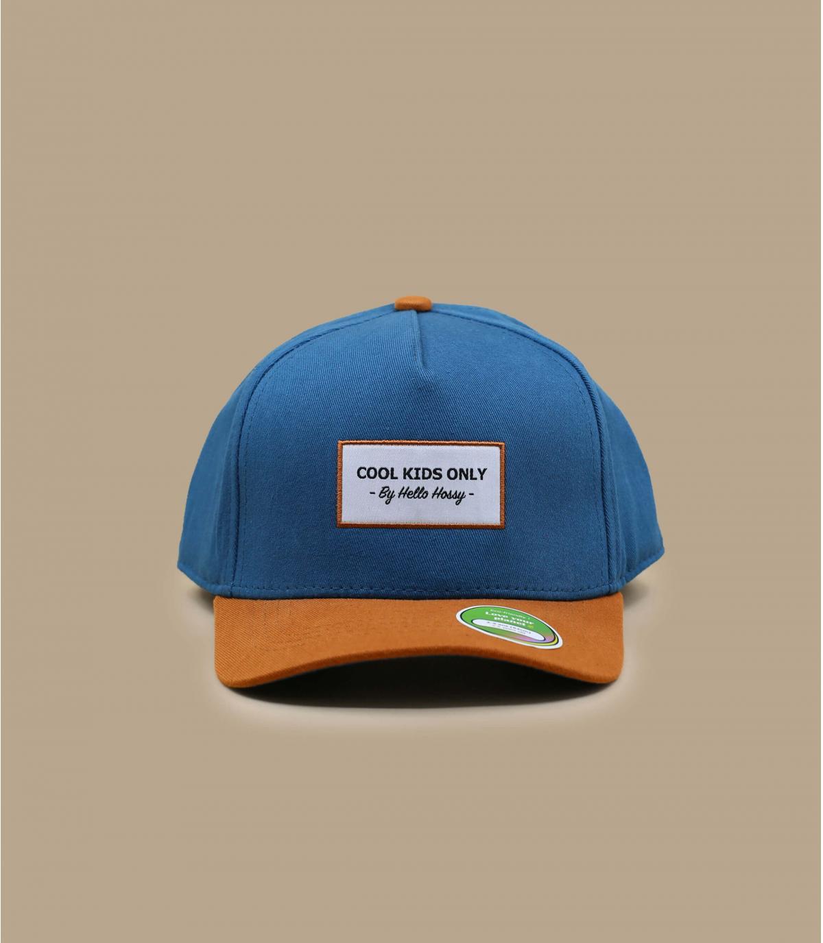 cappellino visiera curva bambino blu