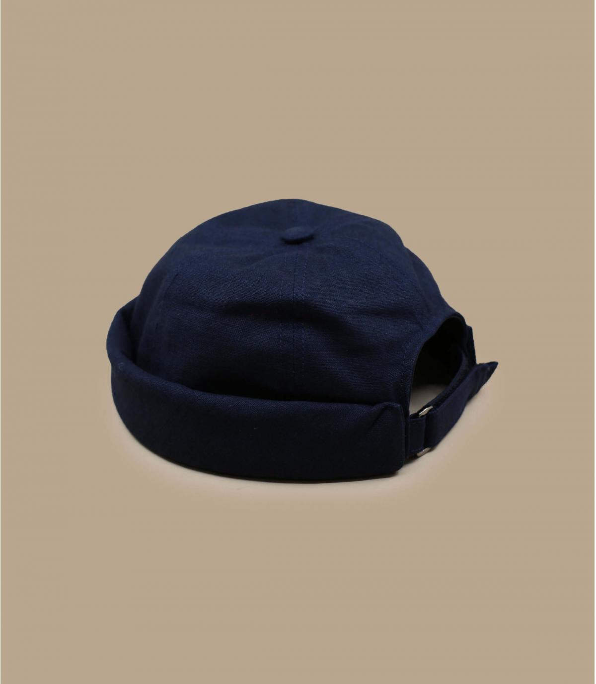 cappello docker lino blu marino