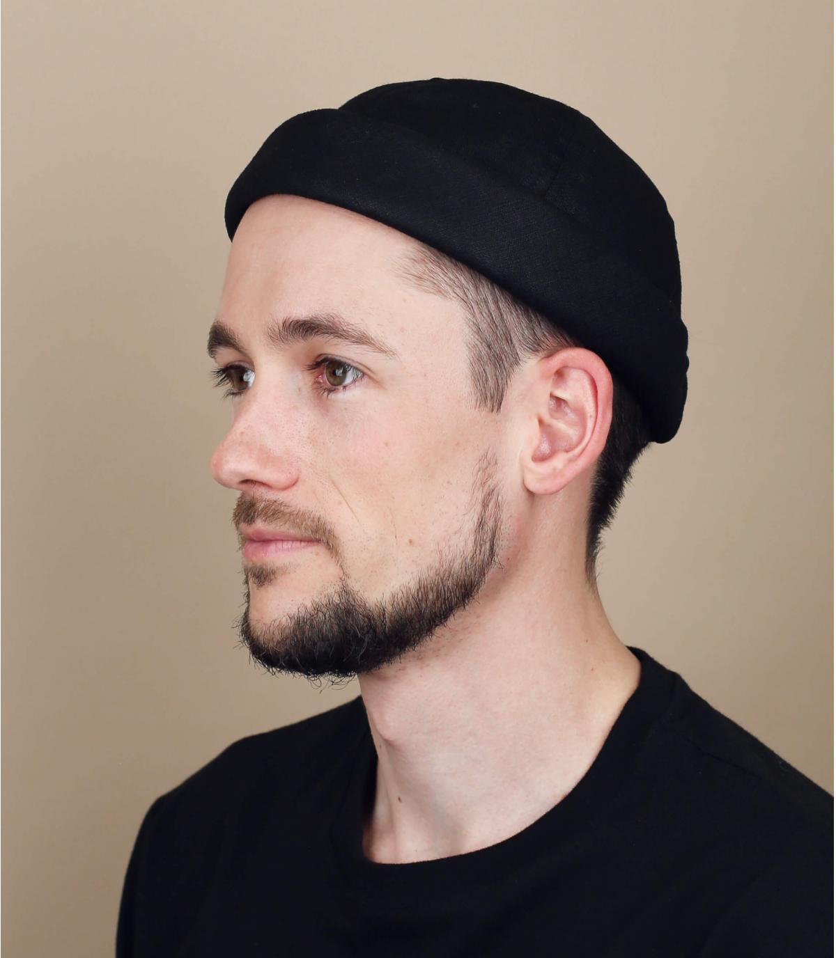 cappello docker lino nero