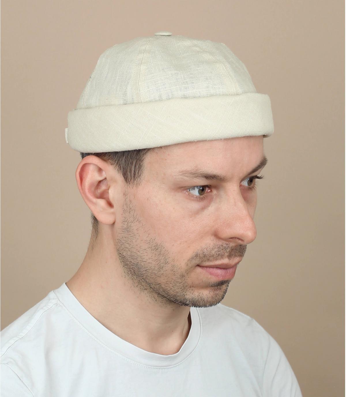 cappello docker lino beige