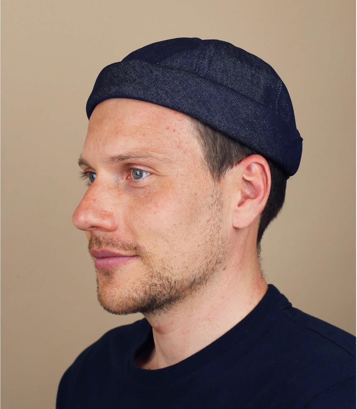 cappello docker cotone blu