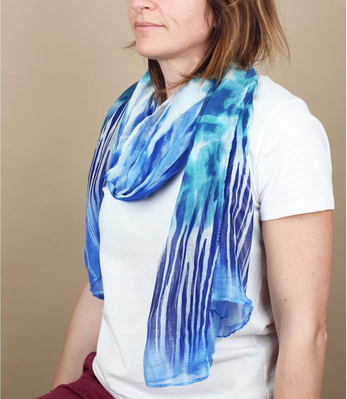 foulard blu