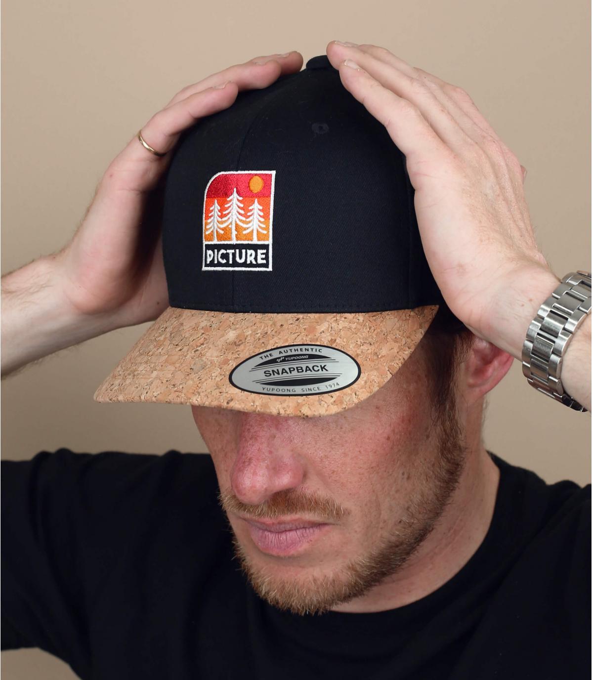 cappellino Picture nero patch
