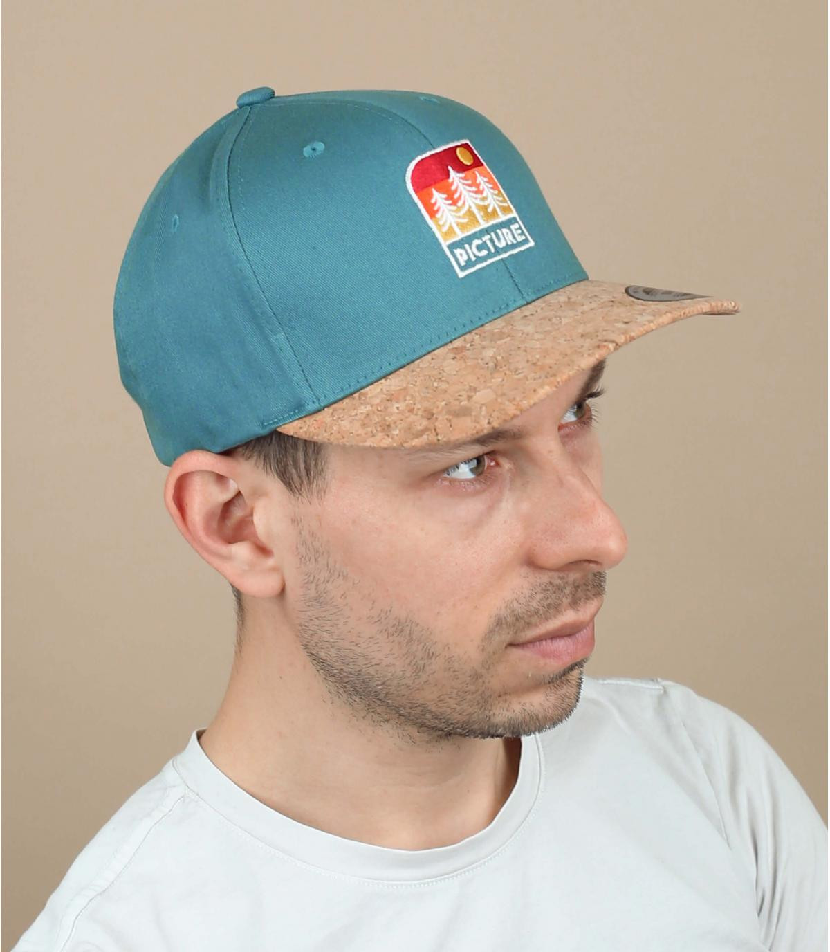 cappellino Picture blu patch