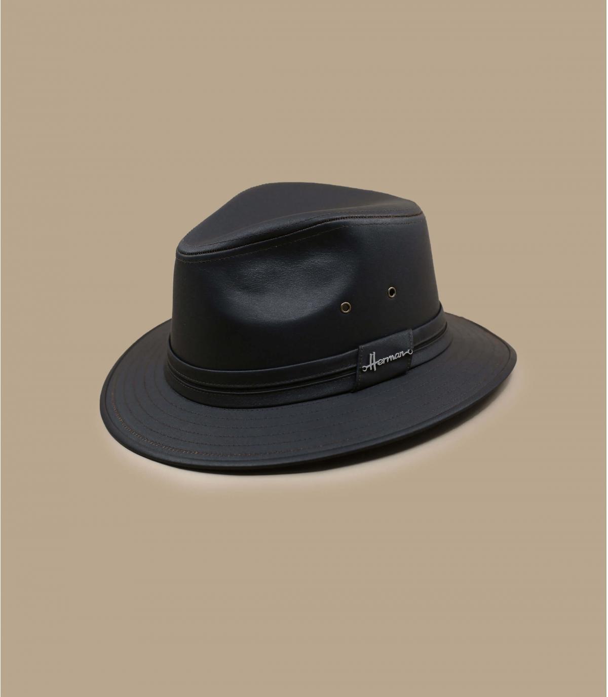 cappello impermeabile marrone