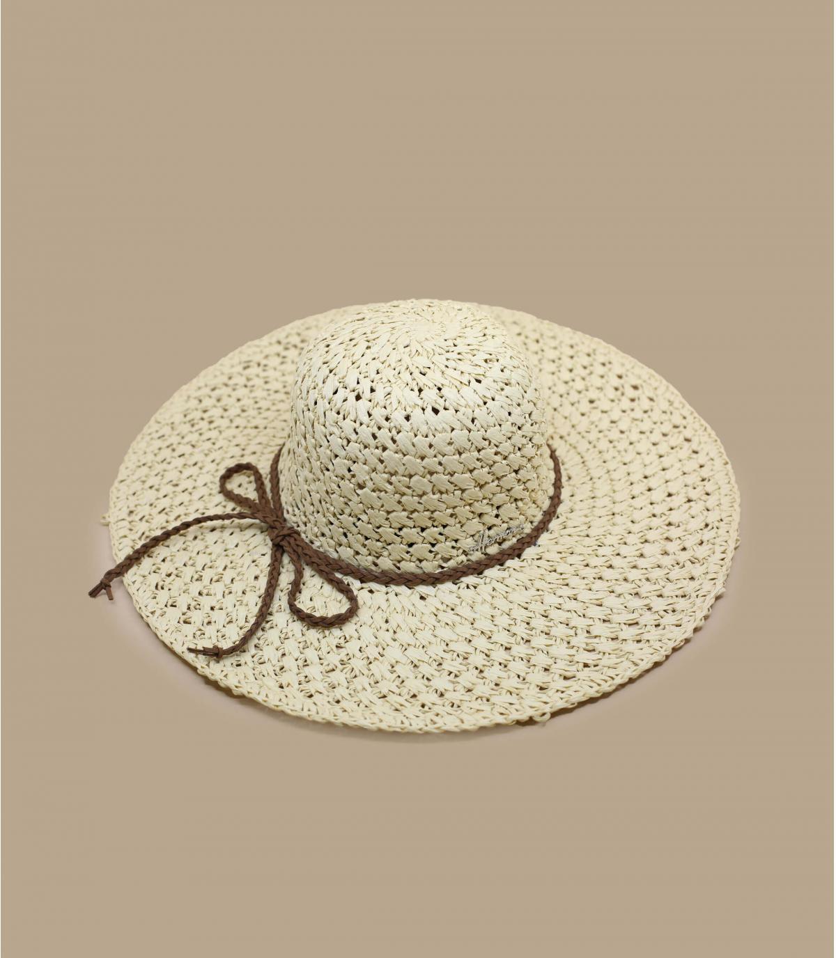 cappellino paglia all'uncinetto