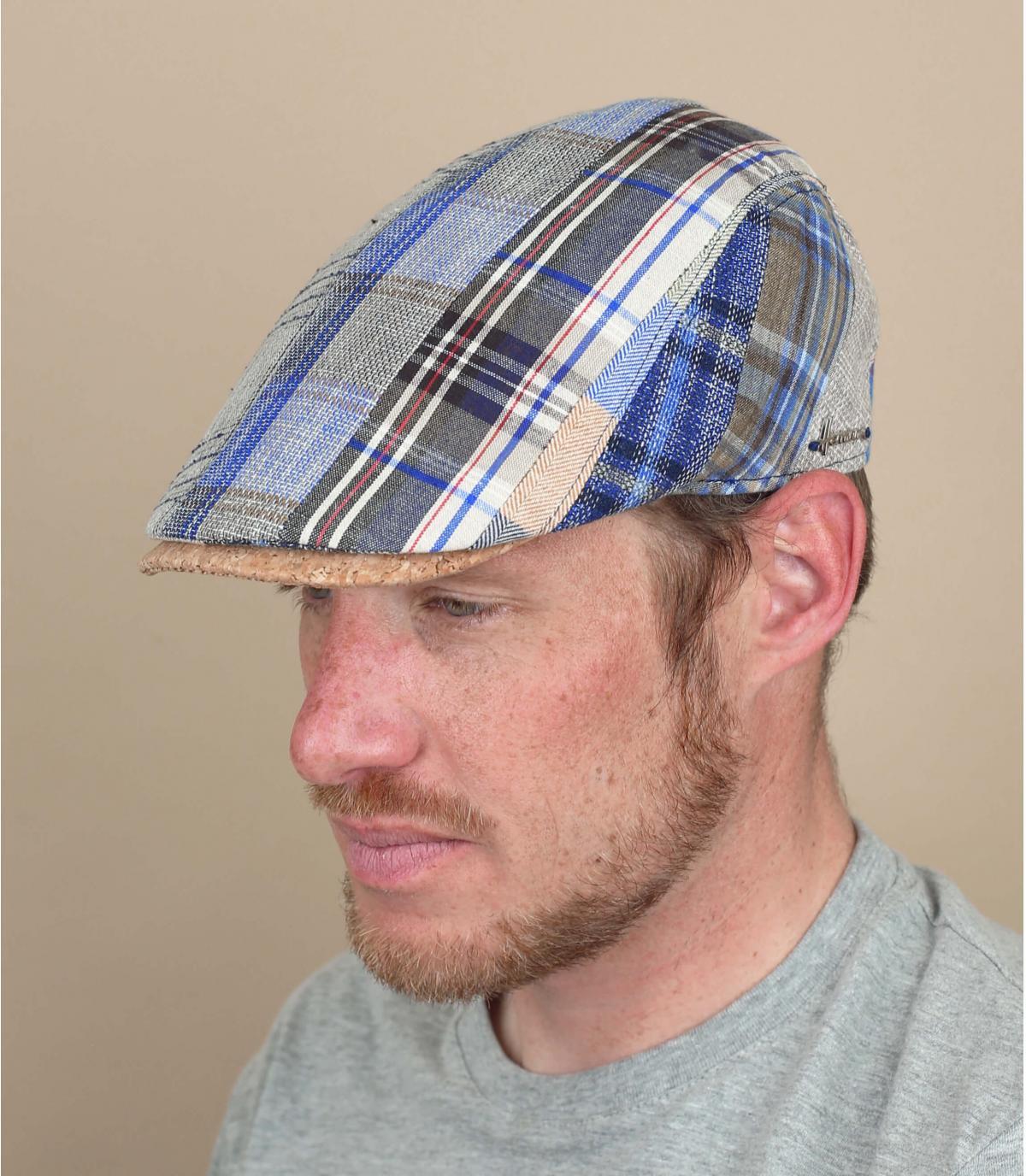 berretto lino patchwork