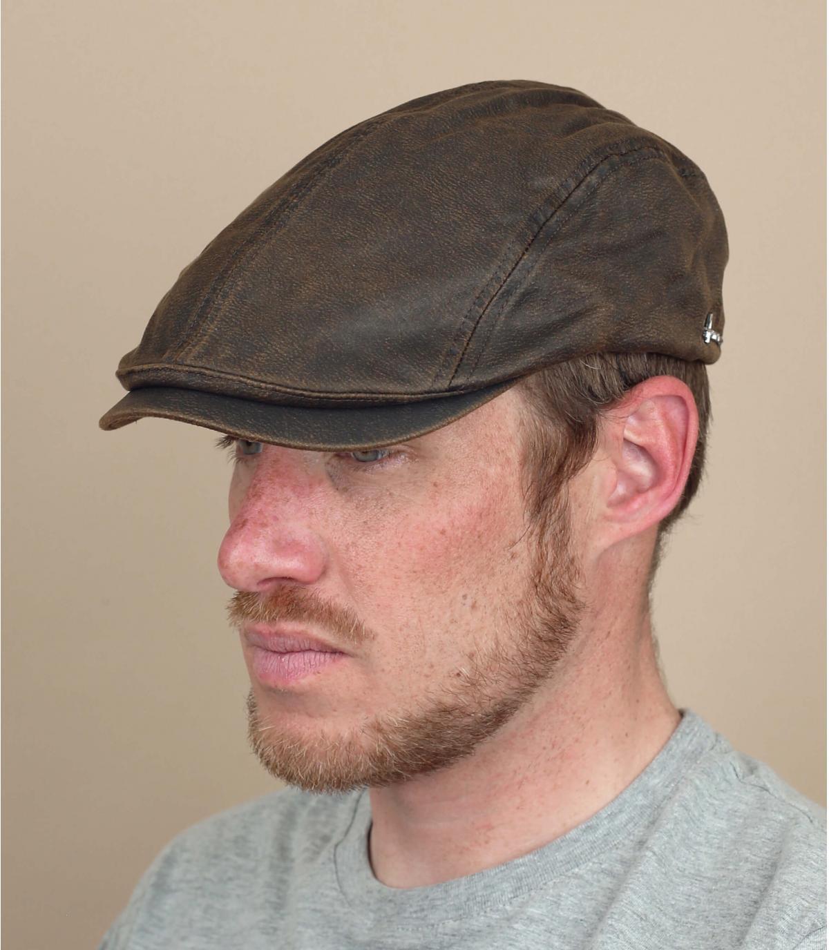 berretto cotone rivestito marrone