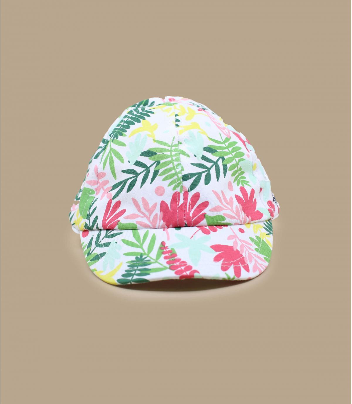 cappellino bambino fiori