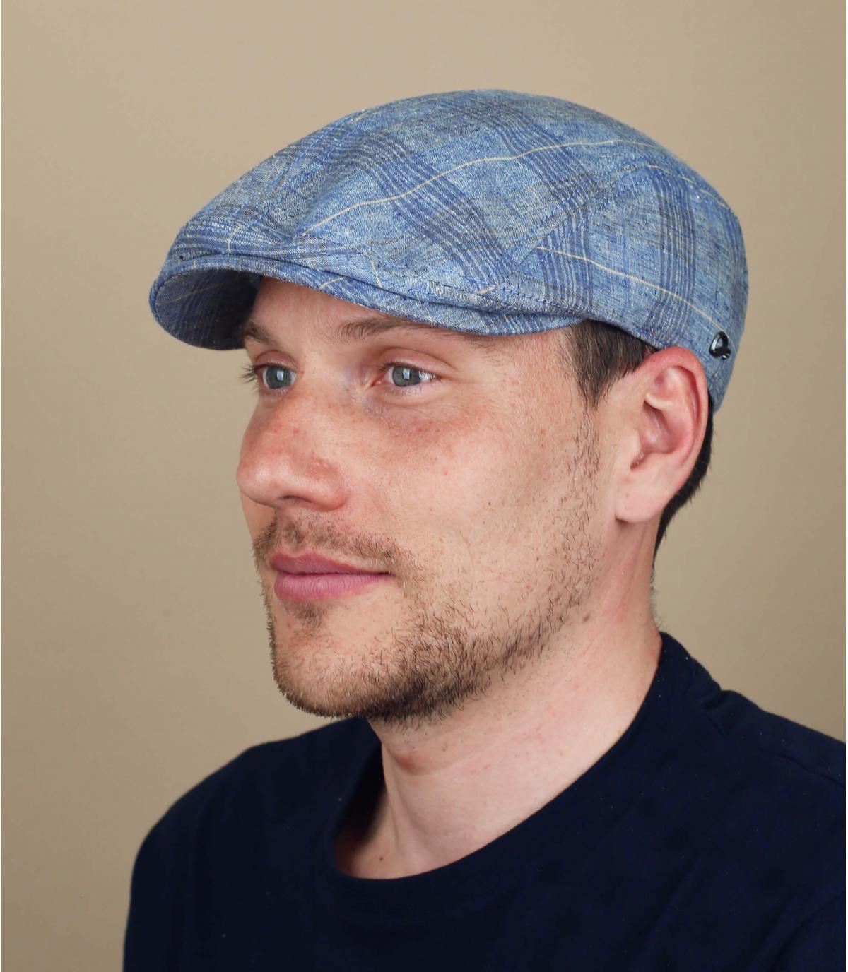 berretto cotone blu