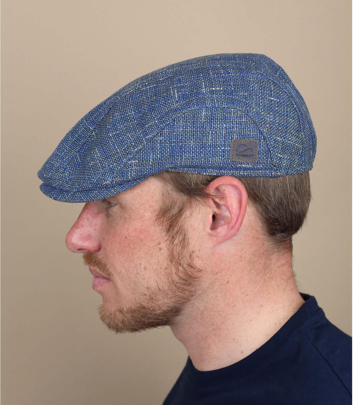 berretto blu lino Göttman