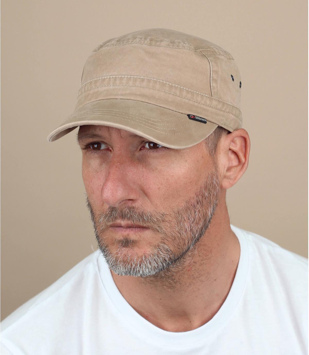 cappellino militare beige