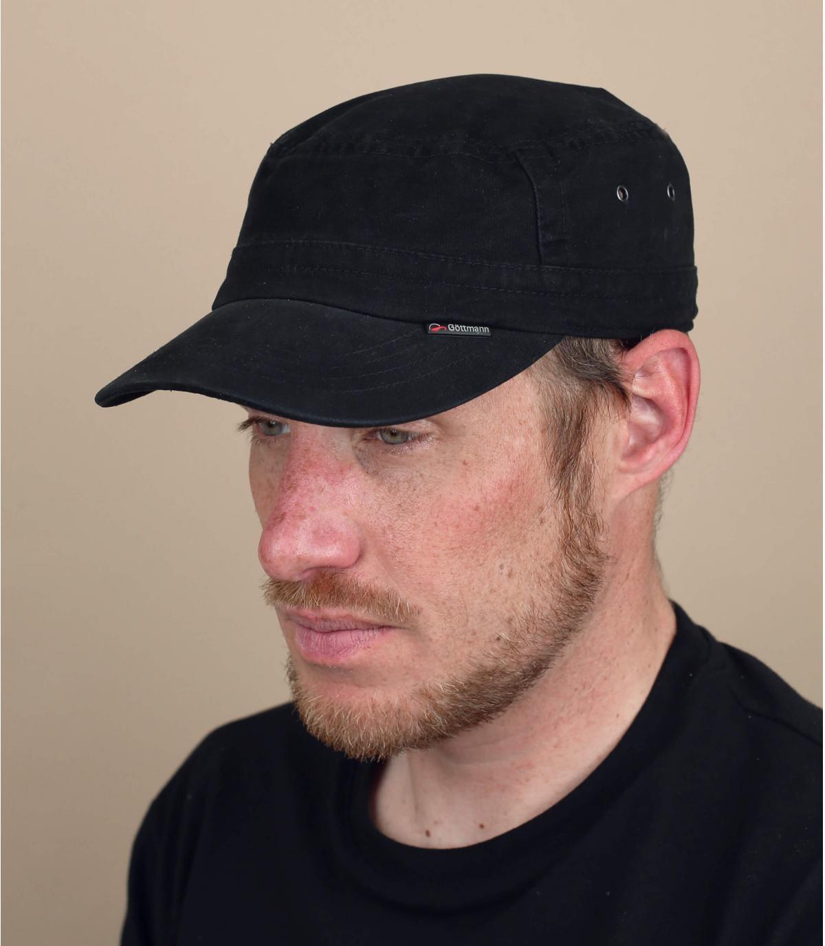 cappellino militare nero