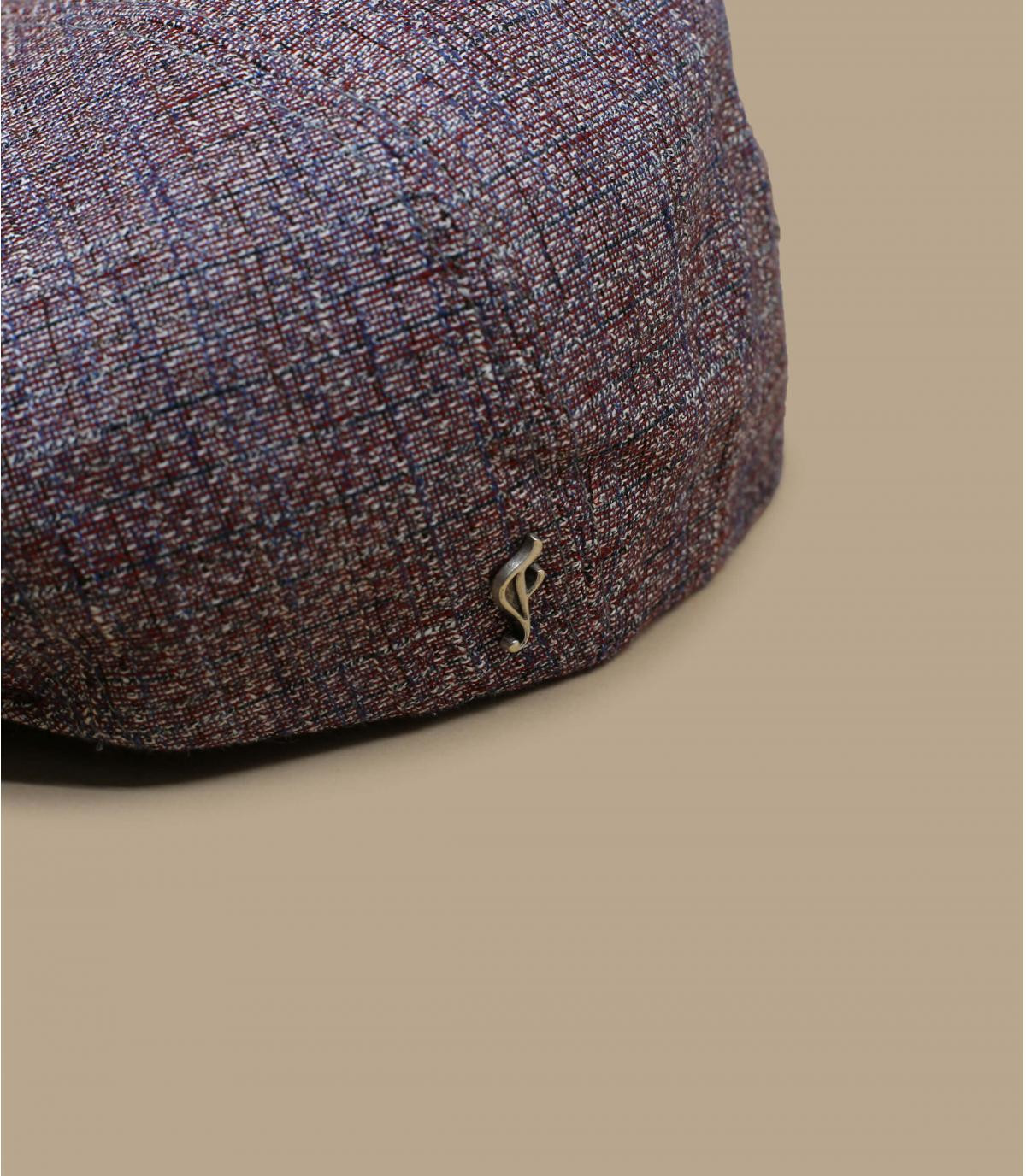 berretto seta lino rosso