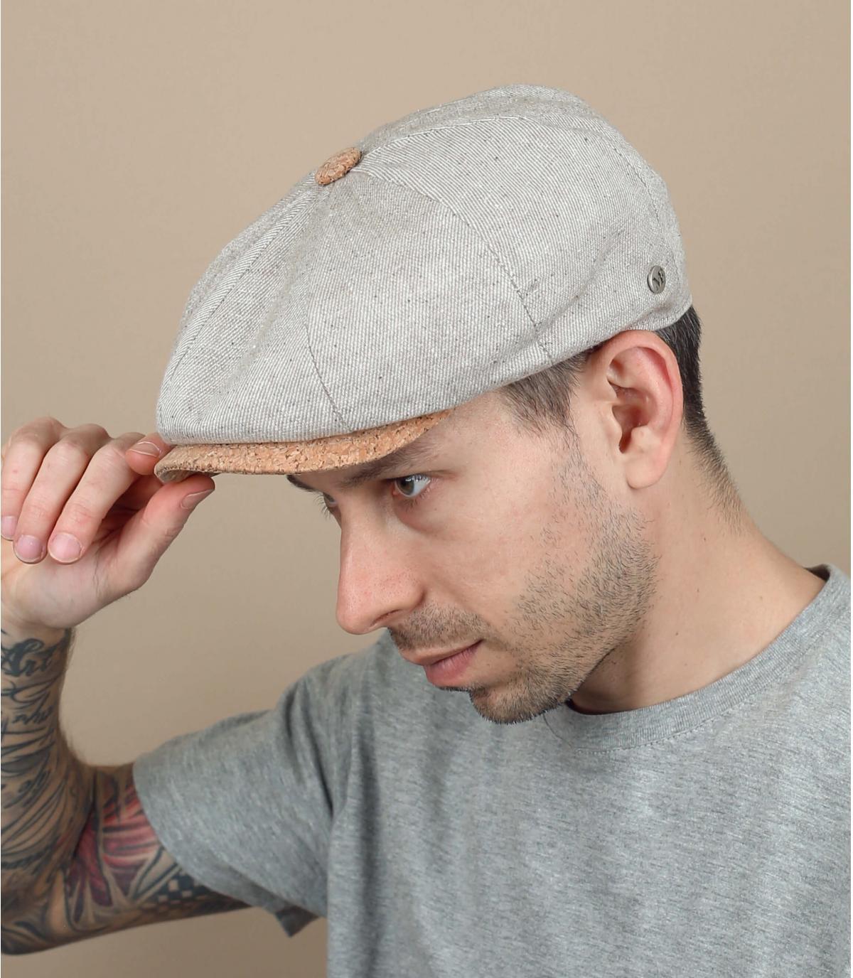 cappellino gavroche lino beige