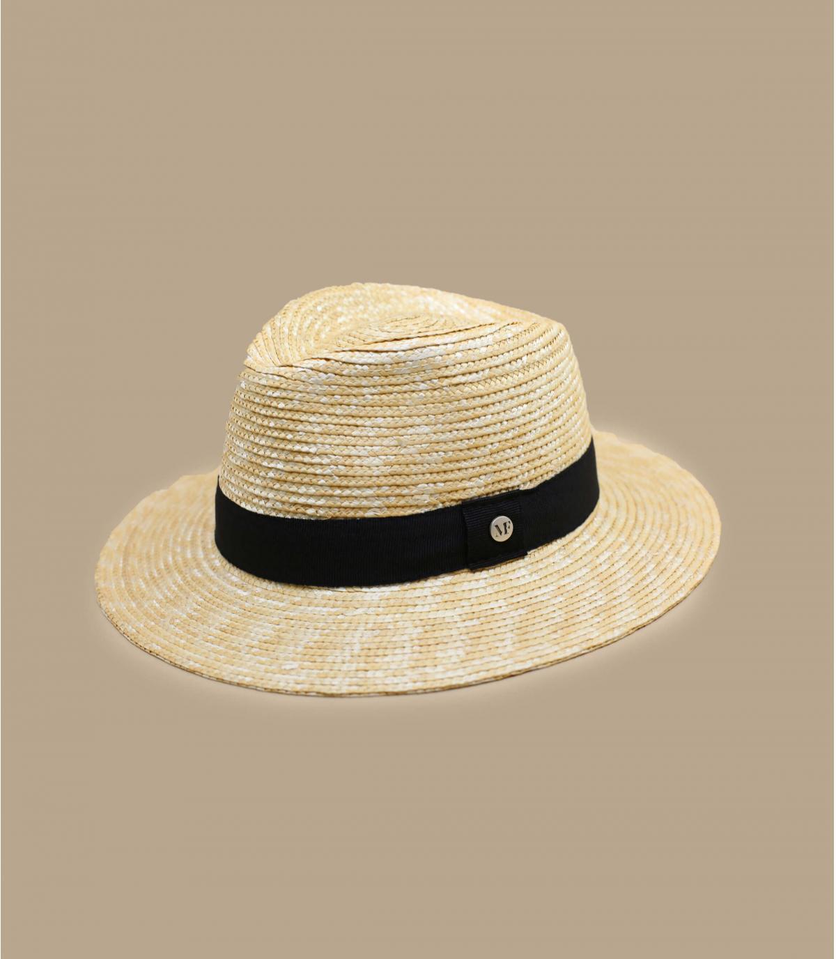 cappello paglia passamano nero