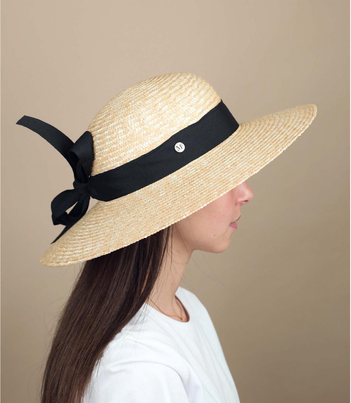 cappello paglia donna nero