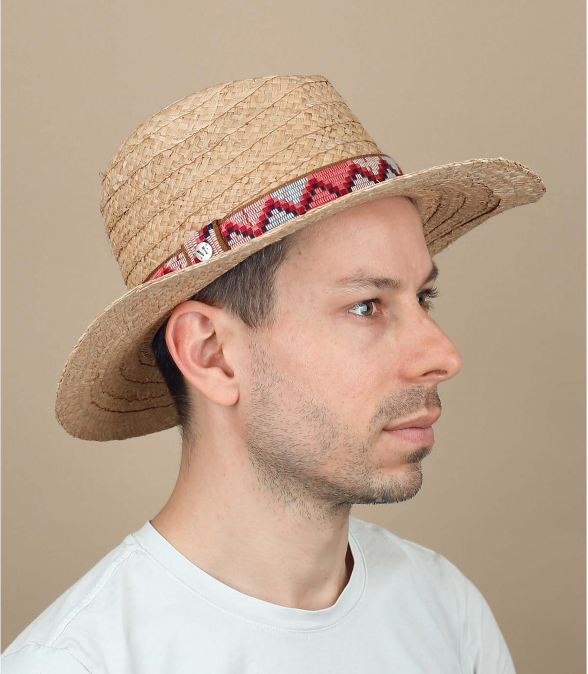 cappello paglia passamano motivi