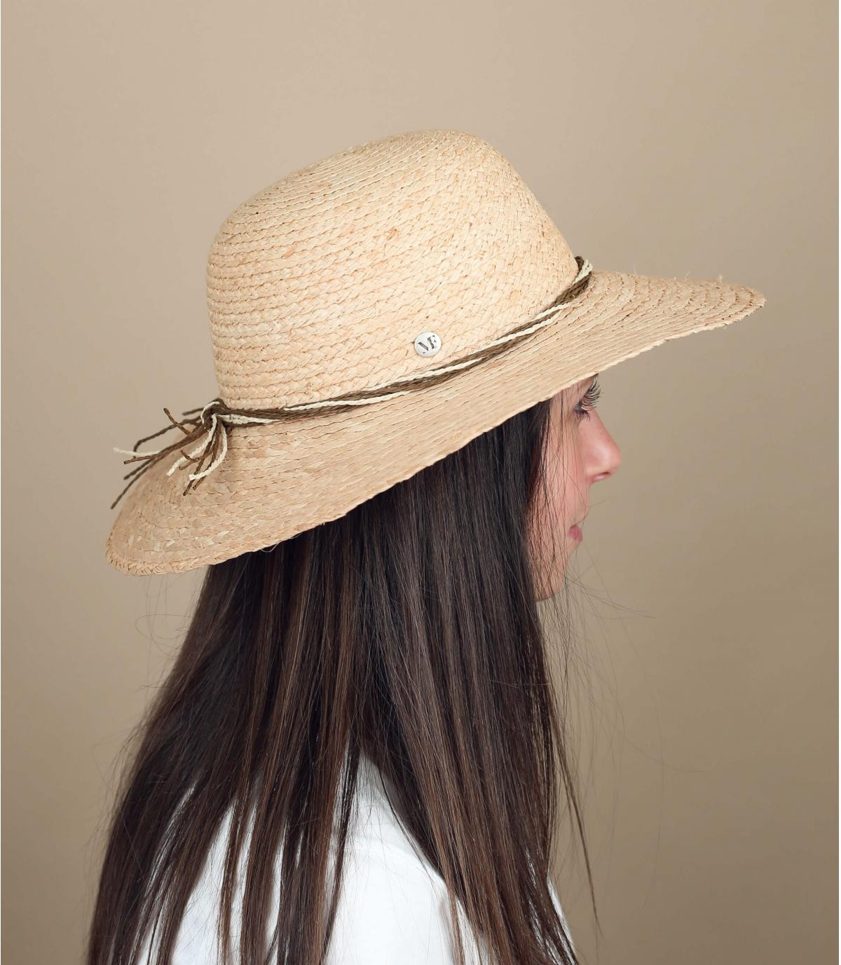 cappello paglia pieghevole