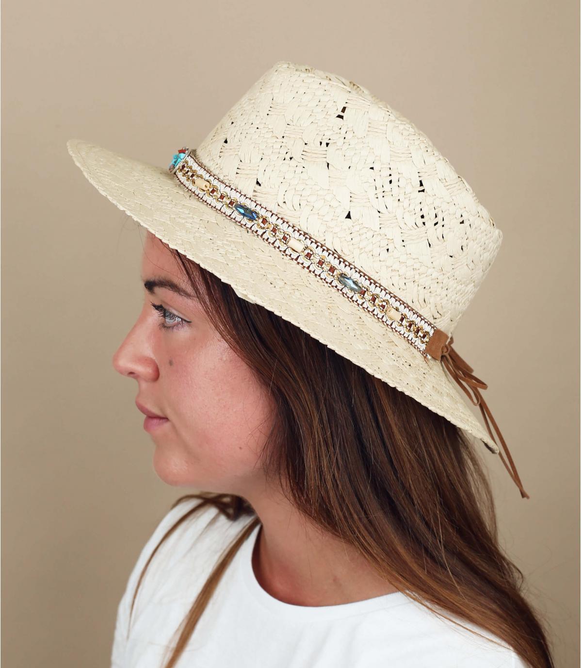 cappello paglia fantasia