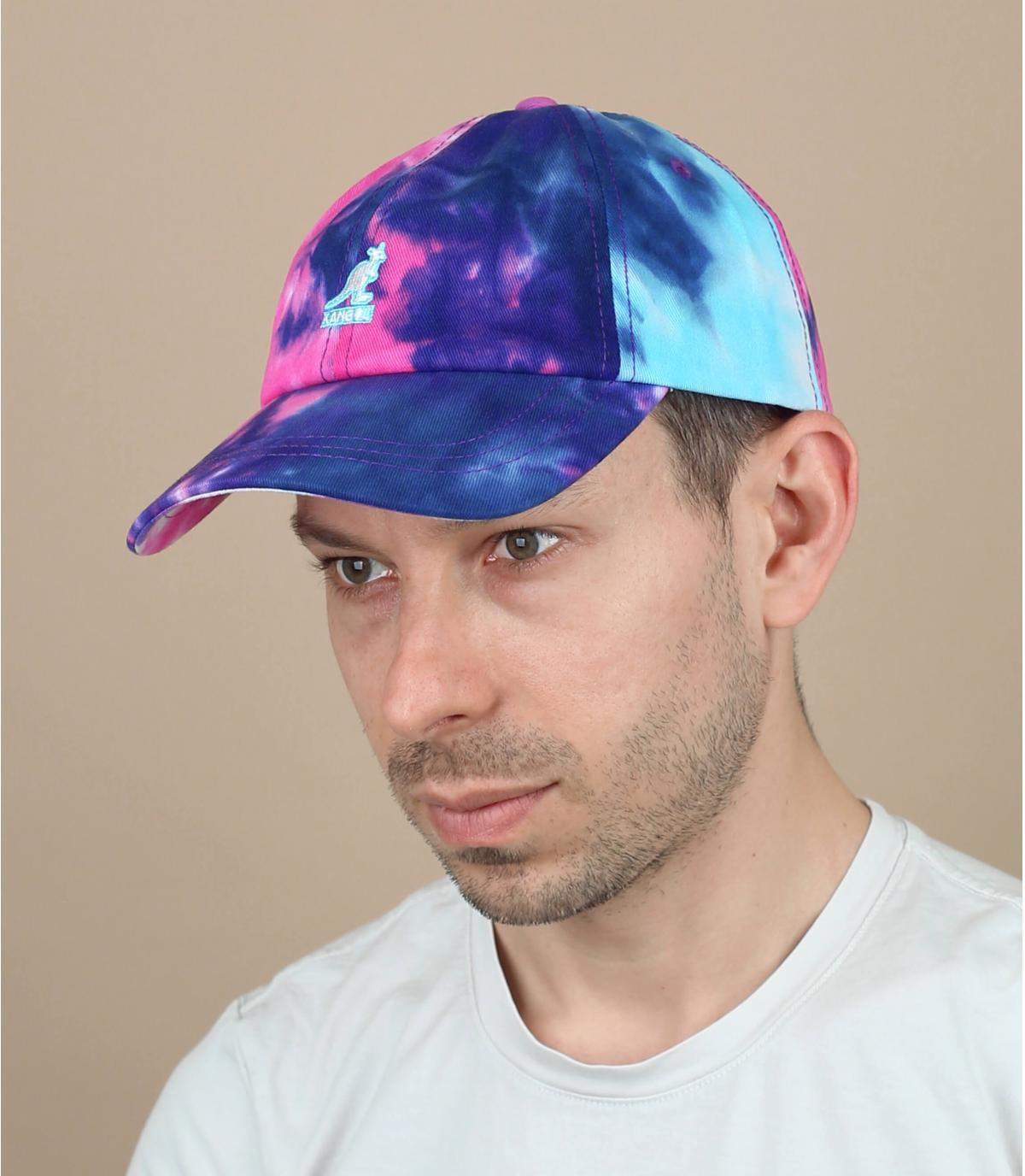 cappellino tie dye blu Kangol