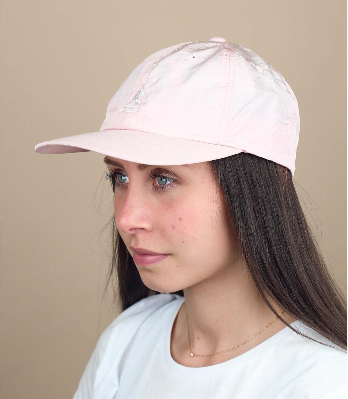 cappellino impermeabile rosa Kangol