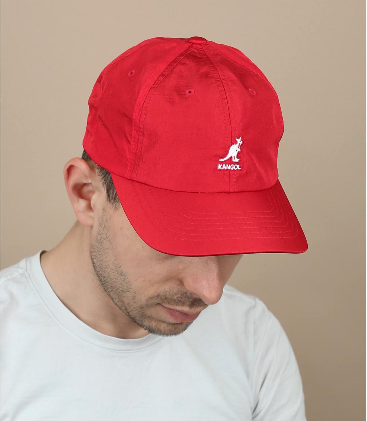 cappellino nylon rosso Kangol