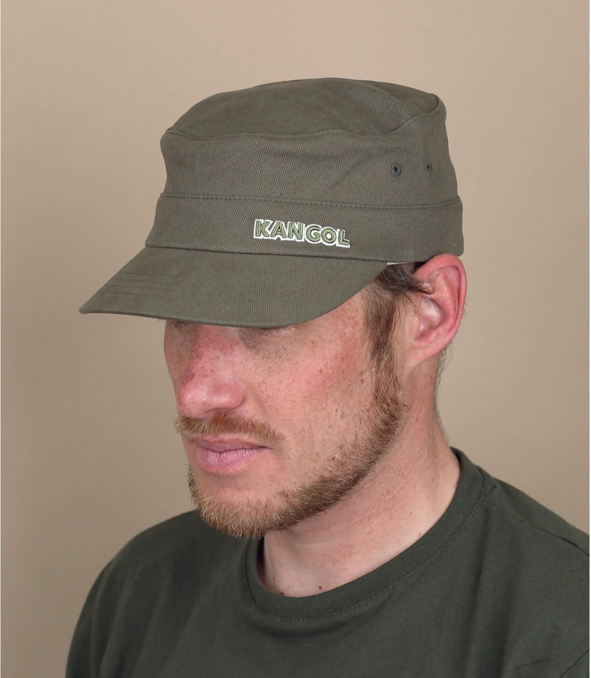 cappellino militare verde Kangol