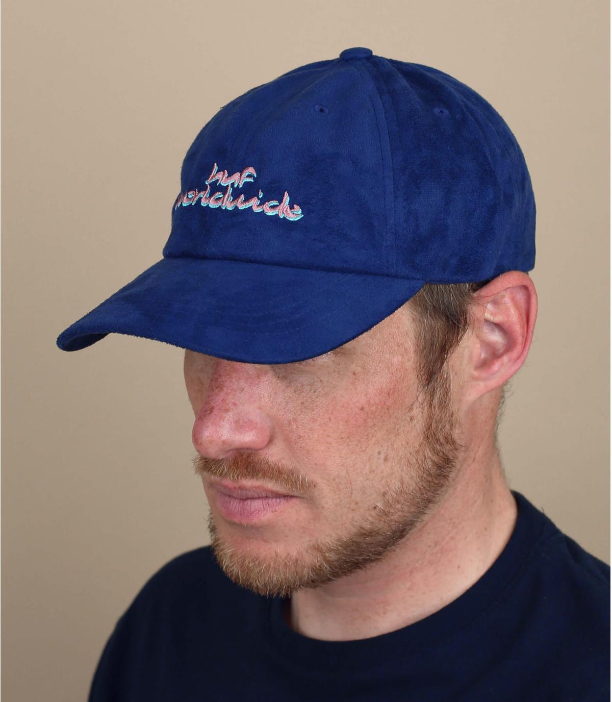 cappellino scamosciato blu Huf
