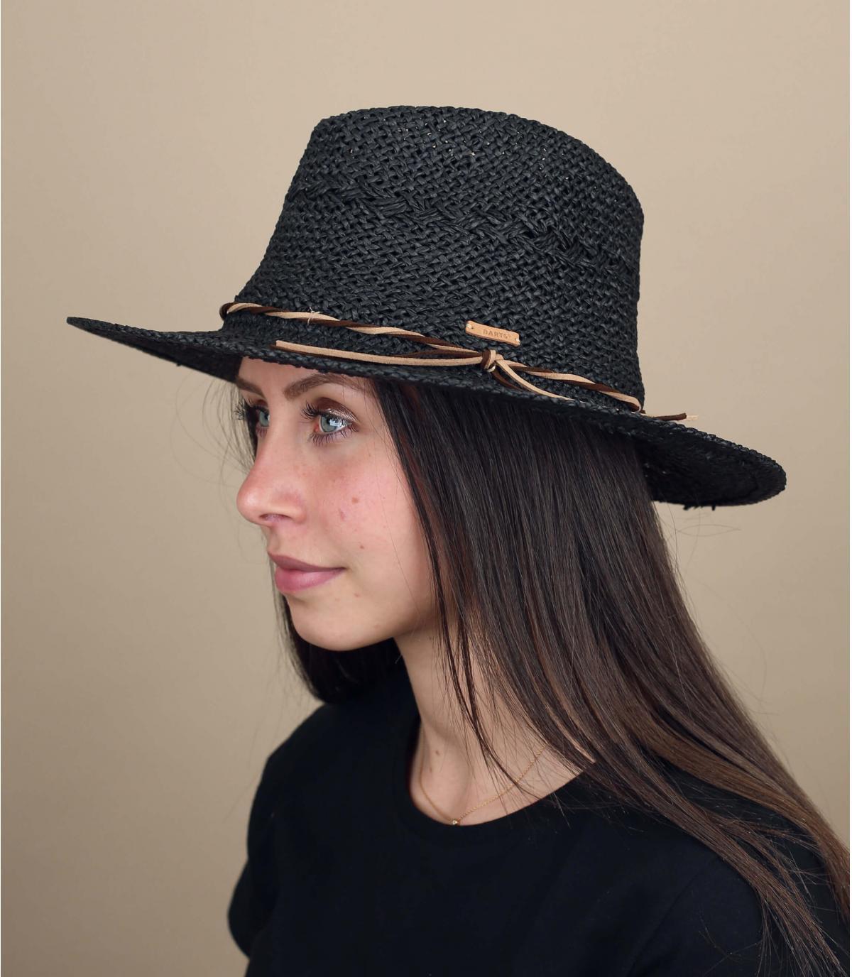 cappello paglia nero Barts