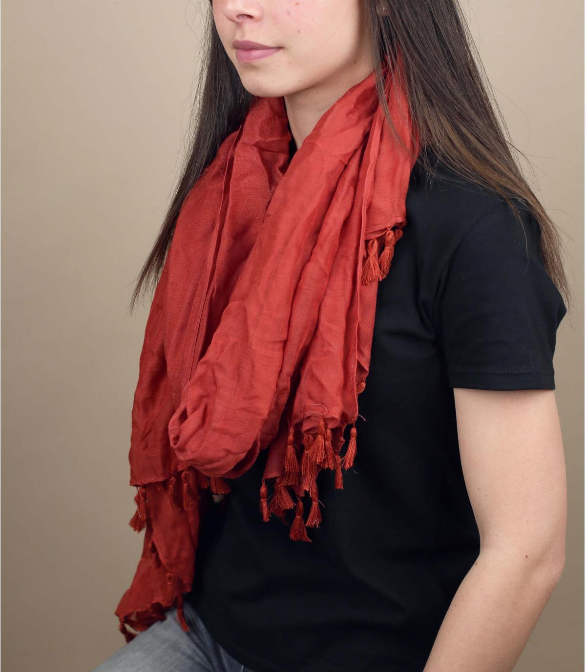 foulard color mattone viscosa